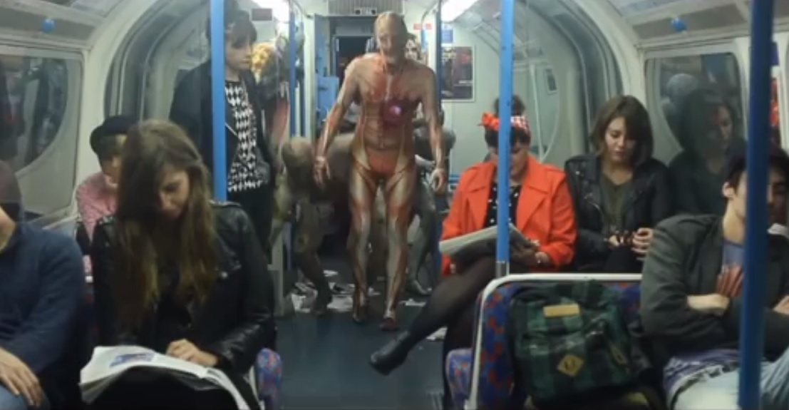 Fright Mob Attack on Subway (Halloween 2013)